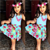 2015 Country Style Children S Clothing Fashion Floral Designs Baby Girl Dresses New Kids Clothes For