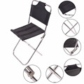1 PC  Portable Outdoor Fishing Folding Chairs Garden Picnic Camping Black Aluminum  Home Furniture Stackable