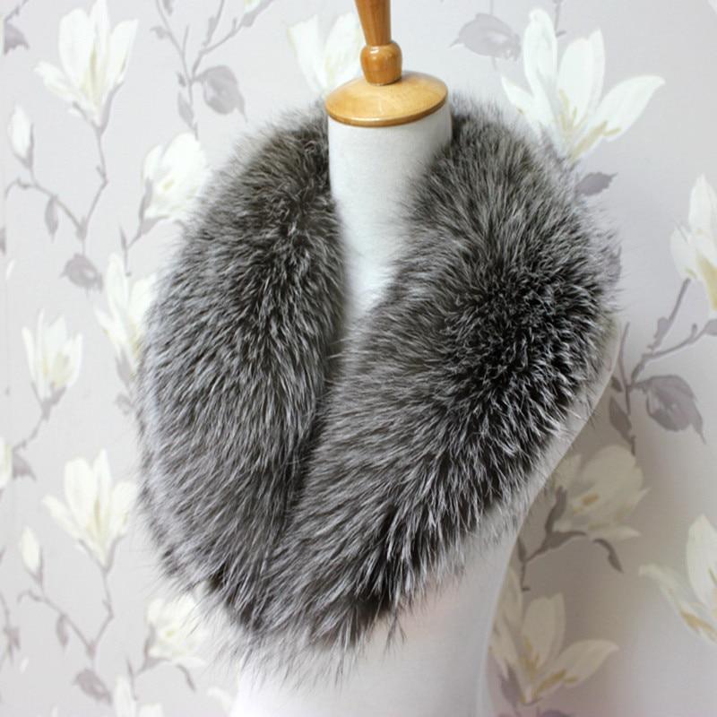 Skutečné přírodní límec límec stříbrný límec luxusní - Příslušenství pro oděvy