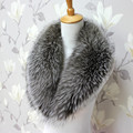 The real natural silver fox collars woman luxurious fur shawl collar big scarf shawl collar woman