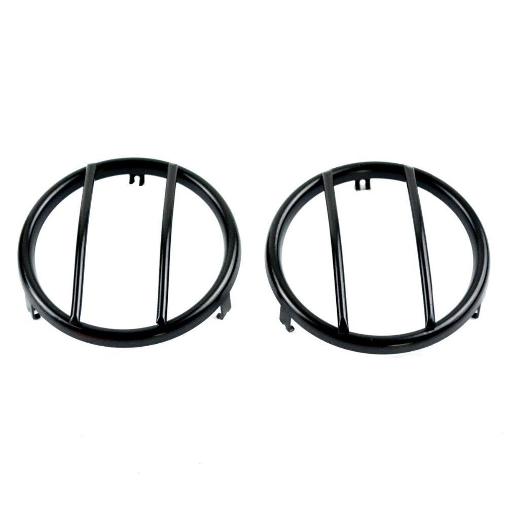 aliexpress com   buy yaquicka 2pcs  lot steel black euro front guard head fog light lamp trim