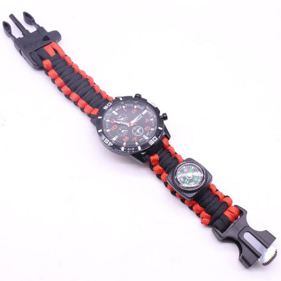 Military Outdoor Paracord Survival Bracelet Compass (2)