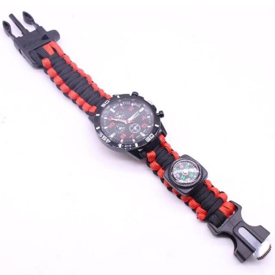 Military Outdoor Paracord Survival Bracelet Compass (2)