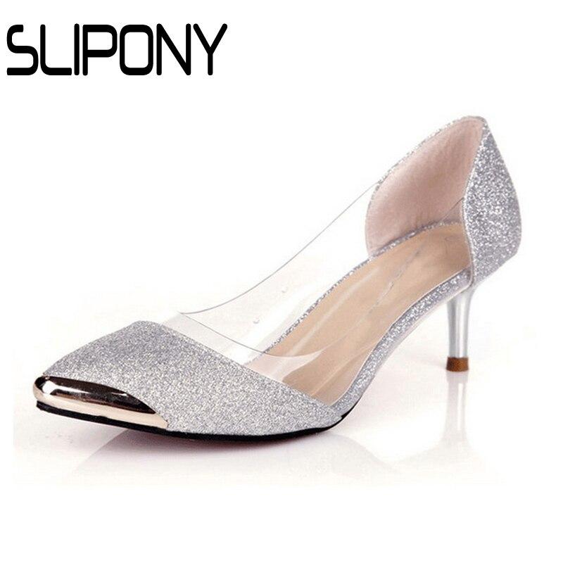 brand spring summer Silver med font b women b font wedding Shoes Low Heel font b
