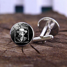 fashion Jack Daniels Cufflinks time gem glass Cufflinks Game Related jewelry cute gifts for children wholesale