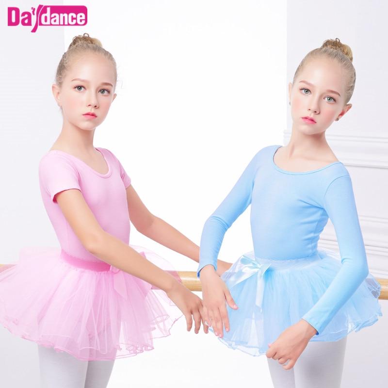 Meninas ballet collant dança tutu terno criança rosa azul princesa dancewear ballet vestido tule tutu saia conjunto