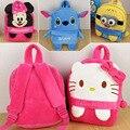 2016 New arrival children plush cartoon bags kids backpack children school bags hello kitty bags for kindergarten girl 1-4  baby