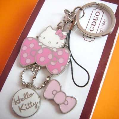 Olá kitty chaveiro cinta do telefone bonito inovador chaveiro llaveros portachiavi promocional key holder frete grátis