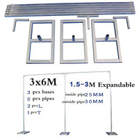 Many Sizes Wedding Stainless Steel Pipe Wedding Backdrop Stand with expandable Rods Backdrop Frames