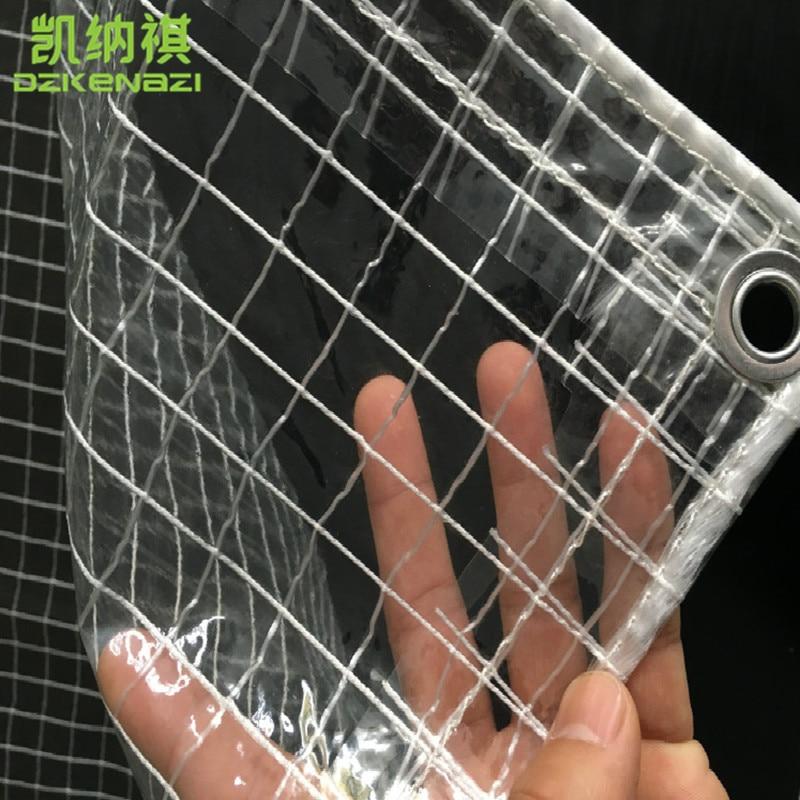 Customized PVC Awning semitransparent waterproof grid cloth Canopy 0.8 M /1.7 M width esspero canopy