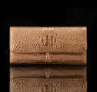 2017 New Women Purses Buckles Coins Bags Brands Leather 3D Embossed Crocodile Crocodile Clutch Purse Lady