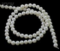 YYW Grade AAA 5 5.5mm 100% Natural Freshwater Pearl Beads White Pearl Round Loose Beads For DIY Necklace Bracelat Jewelry Making
