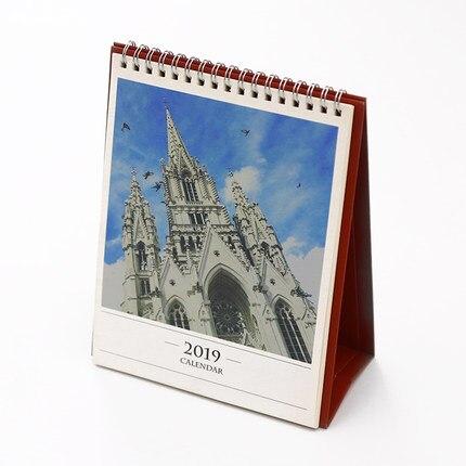 Office & School Supplies 2019 Creative Venice Aegean Sea Church Table Desktop Calendar Agenda Organizer Daily Scheduler Planner 2018.06~2019.12