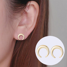 SUKI Trendy Crescent Moon Phase Earrings Ear Jewelry Geometric Rose Gold Silver Stud Earrings for Women Girls Kids Earing Gifts replacement mtb saddle bike road mountain bicycle cycling seat soft cushion pad