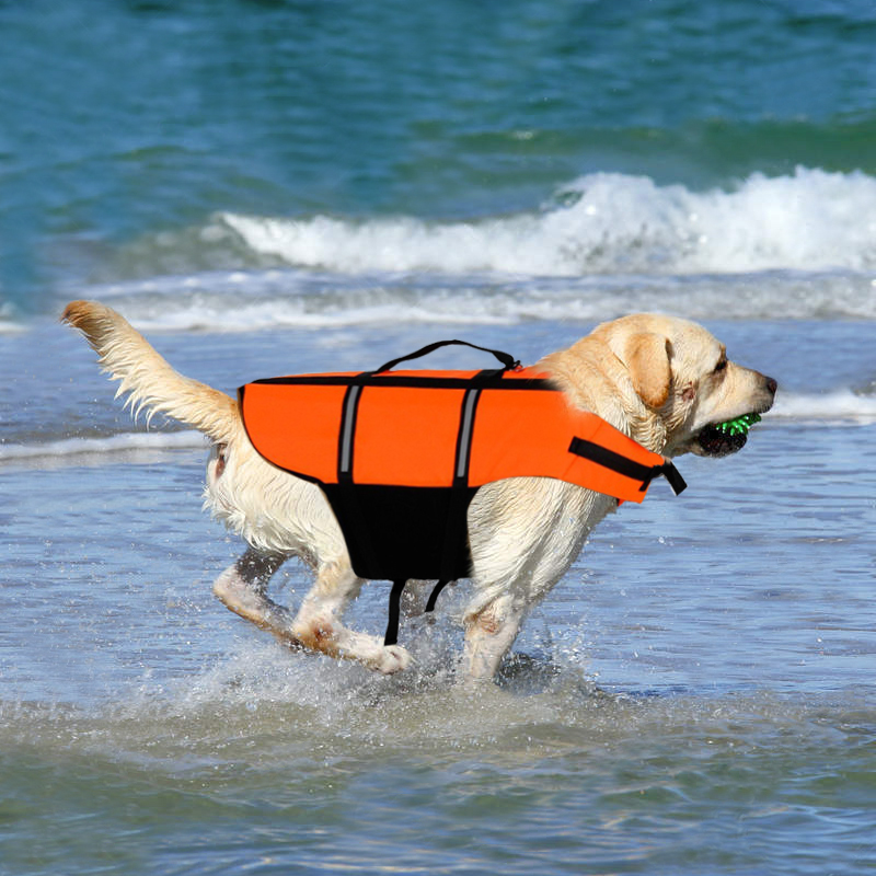 Pet Dog Swimwear Life Jacket Safety Clothes For Dog Life Vest Summer Clothing Reflective 2 Colors Puppy Dog Apparel Pet Supplies