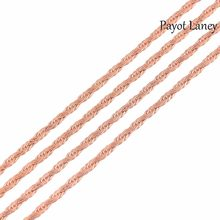 Fashion Width 2mm Women and Men Flat Chain Stainless Steel Necklace For High Quality Rose Gold Color Chain Jewelry(China)