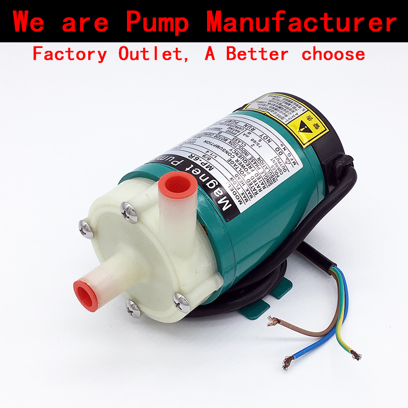 Magnetic Drive Circulation Water Pump 220V MP-6R 2.8~8L/min( 60HZ: 5~9 L/min) Strong Corrosion Resistance Replenish pumps food grade high temperature resisting 140 degree beer magnetic drive pump