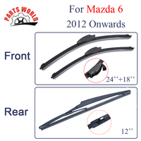 KIT Silicone Rubber Windscreen Front And Rear Wiper Blades For Mazda 6 2012 Onwards Windshield Wiper