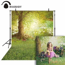 Allenjoy Spring Photography Backdrop Easter Woodland Meadow Flower Fairy Tale Background Photo Studio Photophone Photocall Shoot