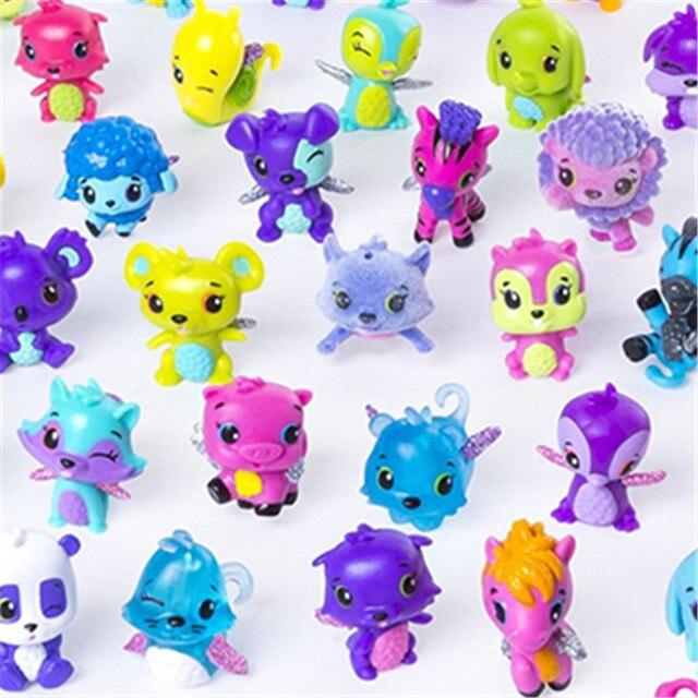 50pcs Hatchimals No Eggs Cute Pets Mini Action Figure Toys Nursery Playset Colleggtibles Birthday