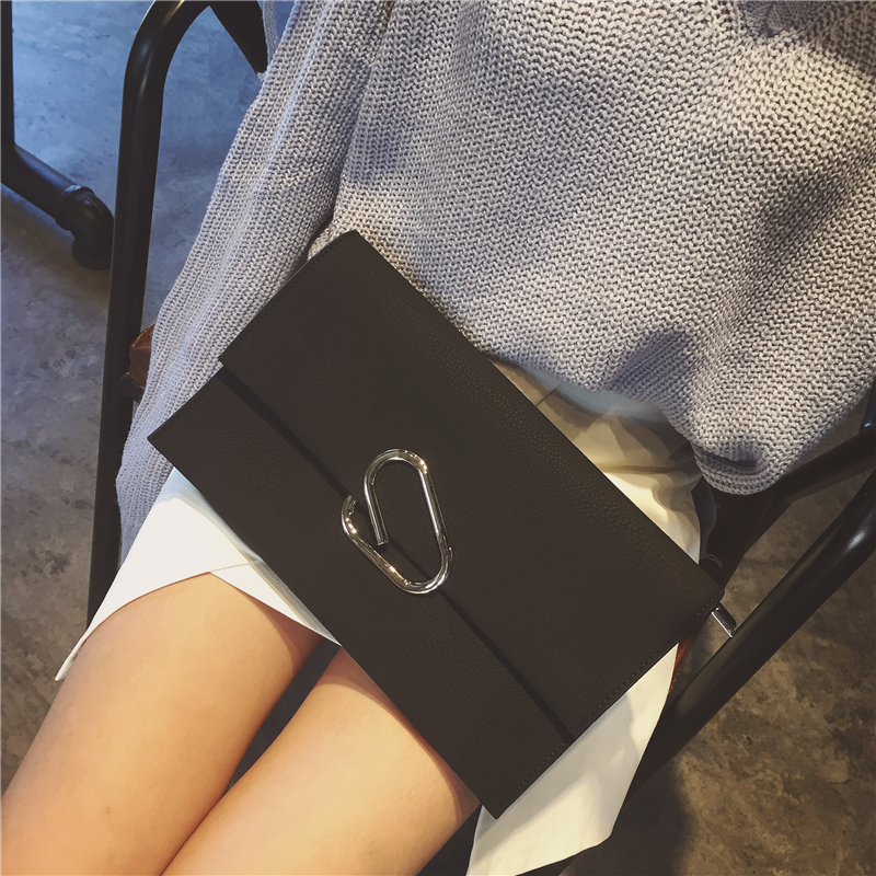 2016 New Designer Paper Clips Handbags Korean Women Simple Envelope Bags Shoulder Crossbody Bag Personal Messenger Package Mujer