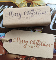Handmade Merry Christmas 8 3cm Wooden Rubber Stamps For Scrapbooking Carimbo Timbri Christmas Stamps