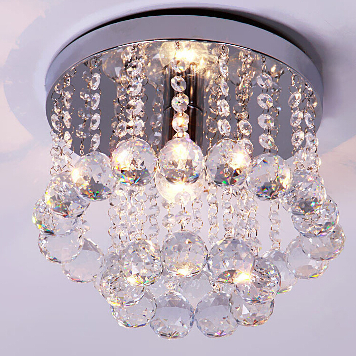 Catherine 4light Polished Chrome Crystal Chandelier With
