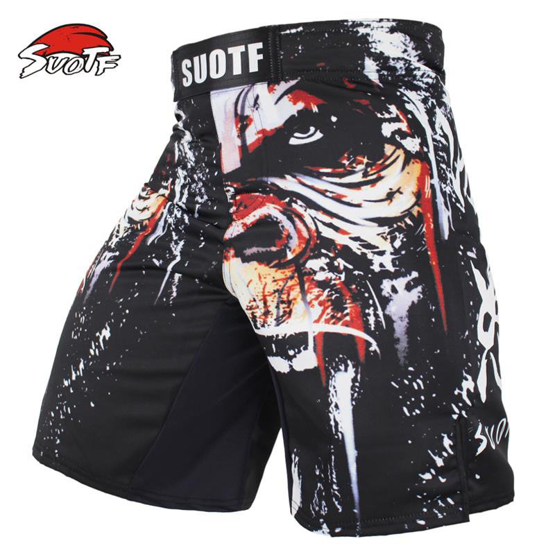 New Gorilla Ape MMA Shorts Muay Thai Boxing Short Pants Fighting Kick Men Fight