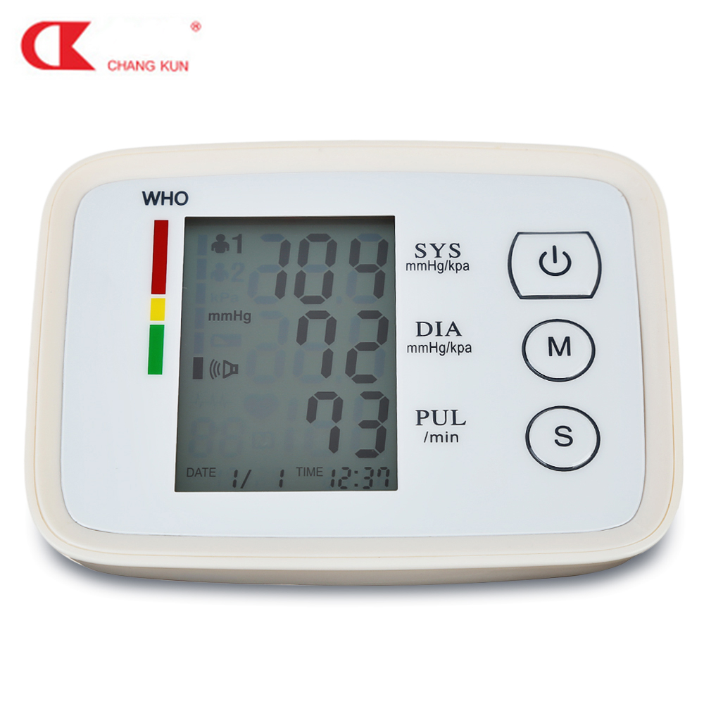CHANG KUN Arm Gesundheit Pflege Blutdruck Meter Herz Beat Monitor Rate Pulse Meter Tonometer Blutdruckmessgeräte Pulsometer