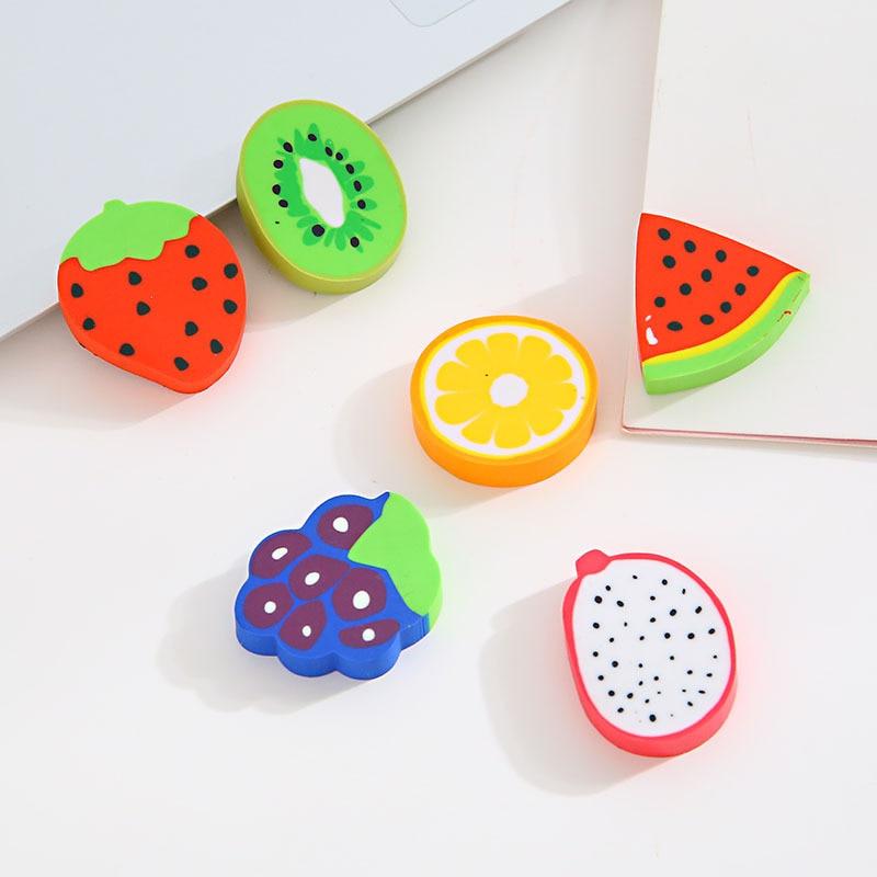 R417 22 De Descontogreenhow Frutas Eraser Correção De Cor Dom Artigos De Papelaria Criativa Dos Desenhos Animados Do Kawaii Para Crianças De