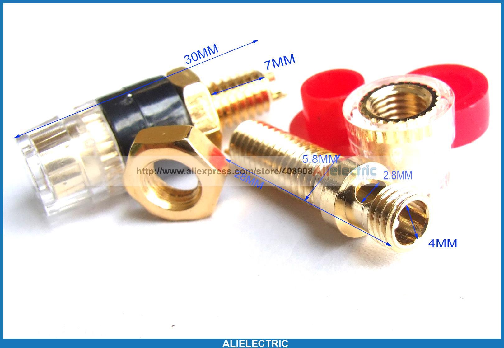 ФОТО 20pcs Copper Binding Post for Speaker Amplifier Terminal Banana Plug Test Probes
