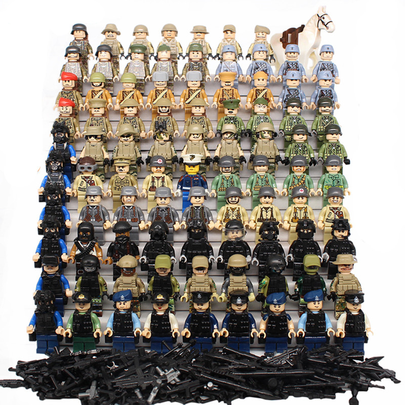 купить SWAT Military Figure World War II Marine Corps Army Soldiers Special Forces Building Blocks Set Compatible With LegoINGly Weapon недорого