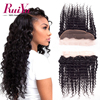 Brazilian Deep Wave Lace Frontal Closure Brazilian Deep Curly Ear To Ear Lace Frontals With Baby Hair Human Hair Lace Frontals