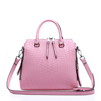 CHISPAULO Famous Brand Women Bag Genuine Leather Crocodile Candy Color Ladies Hand Bags Floral Print Large