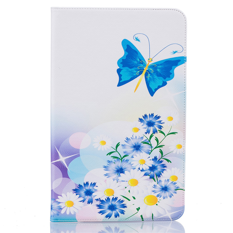 Butterfly Owl Cartoon PU Leather Flip Cover Cases For Samsung Galaxy Tab A A6 10.1 2016 T585 T580 T580N Tablet Cover Case Funda