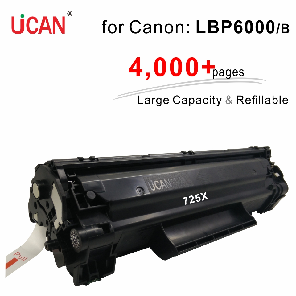 4000 pages Large Capacity Refillable Toner Cartridge 725 925 compatible <font><b>Canon</b></font> <font><b>LBP6000</b></font> LBP 6000 6000B 6018 printer image