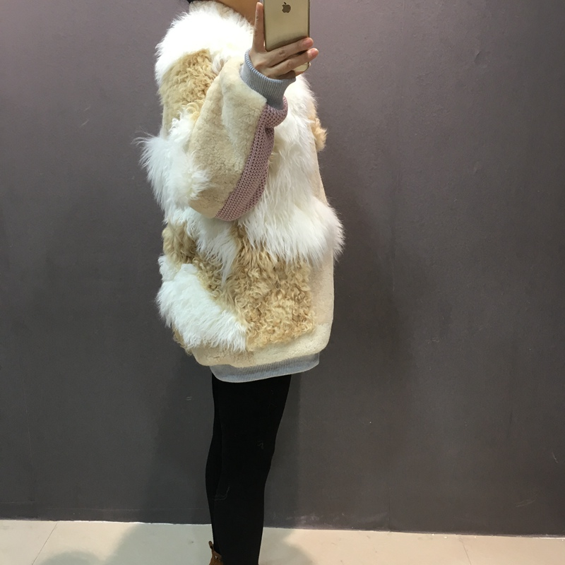 natural sheep fur coat real lamb fur (3)