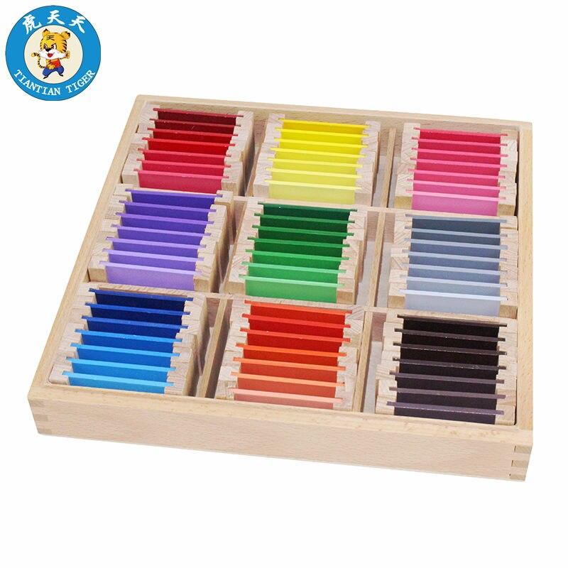 Bébé enfants jouets Montessori matériel jouets sensoriels éducation précoce couleur tablette boîte taille 25.8*25.8*3.3 cm