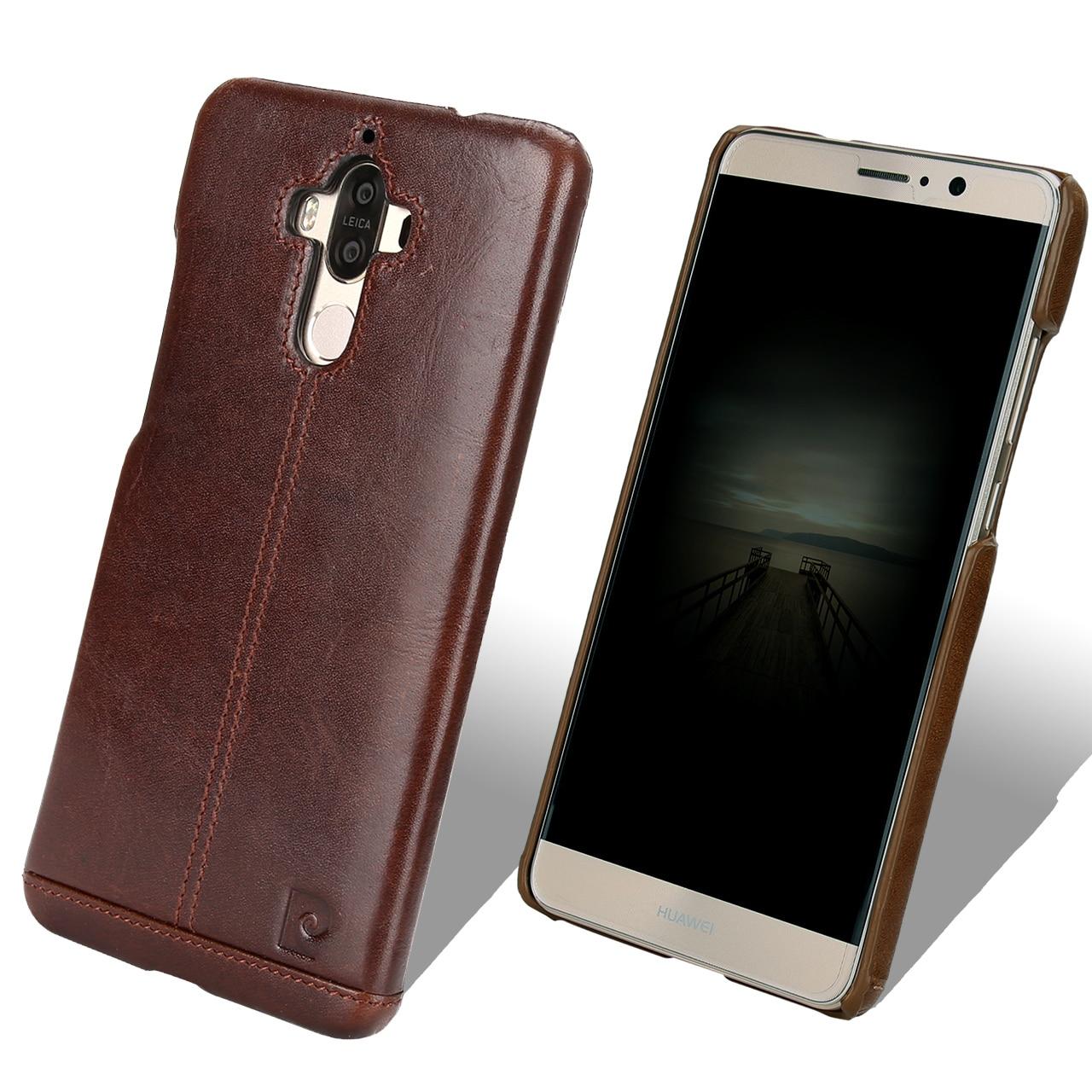 bilder für Für Huawei Taube 9 Fall Ursprüngliche Pierre Cardin Luxus Marke echtes Leder-kasten Für Huawei Kollege 9 Schutz Telefon Abdeckung fällen