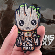 Pulaqi Tree Man Groot Embroidered Patches For Clothing  Iron On Avengers Patch Applique Clothes Custom