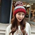 2016 Новая Мода женщины Теплые Акриловые Пашмины Шляпы Вязаная Шапка Крючком Шляпы Для Дам Толстый Зимний Милые Случайные Женщины шапочки
