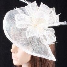 Дерби sinamay шапки для женщин Гонки аксессуары для волос Необычные fascinators свадьбы свадебный головной убор 20 цветов SYF278