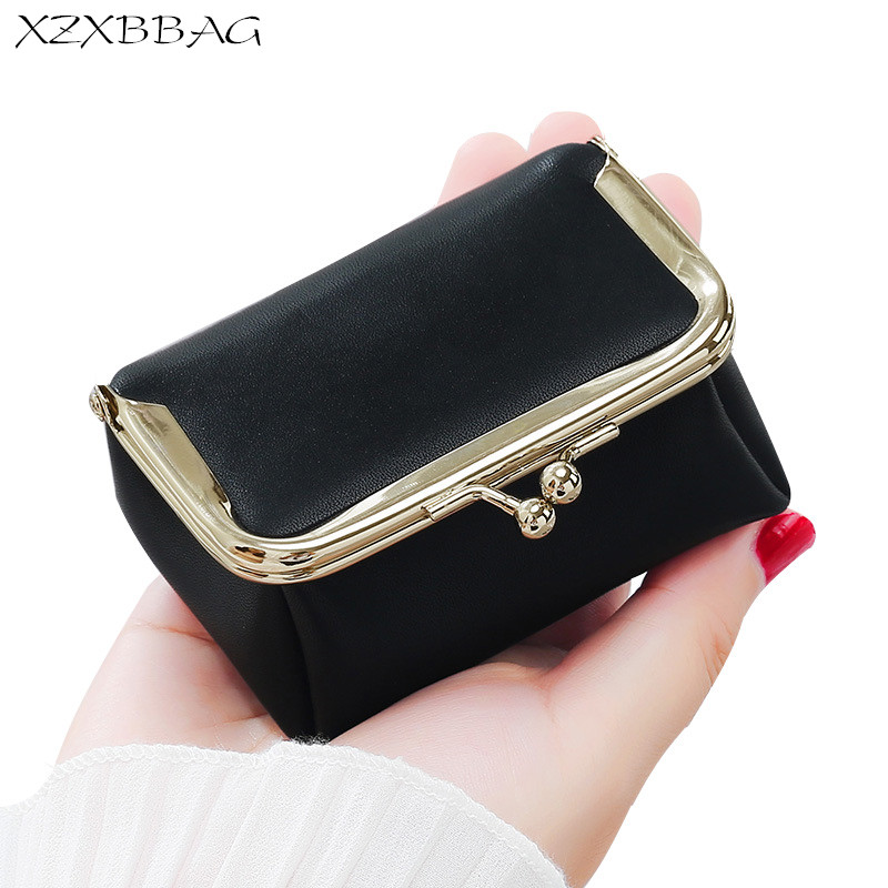 XZXBBAG Fashion Women Hoop Coin Purses Female Hasp Small Wallet Girl Change Purse Key Chain Money Bag Mini Zero Wallet XB297 cute girl hasp small wallets women coin purses female coin bag lady cotton cloth pouch kids money mini bag children change purse