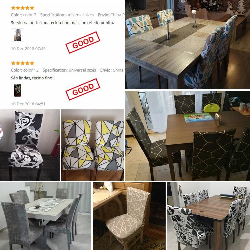 Jednolite kolory Elastyczna elastyczna elastan Krzesło na wesele - Tekstylia do domu - Zdjęcie 6