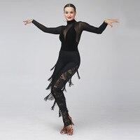 tassel latin dancing dress samba costume latin pants dance wear cha cha costume latin ballroom clothes latin salsa dress