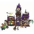 Scooby doo Тайна Особняк Строительные Блоки scoobydoo лохматый Велма вампиров 3D Детские Игрушки Подарки, Совместимые с Legoe