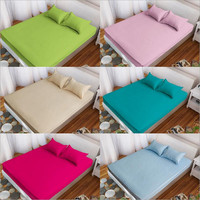 Premium Hypoallergenic Plain Color Mattress Protector Fitted Sheet