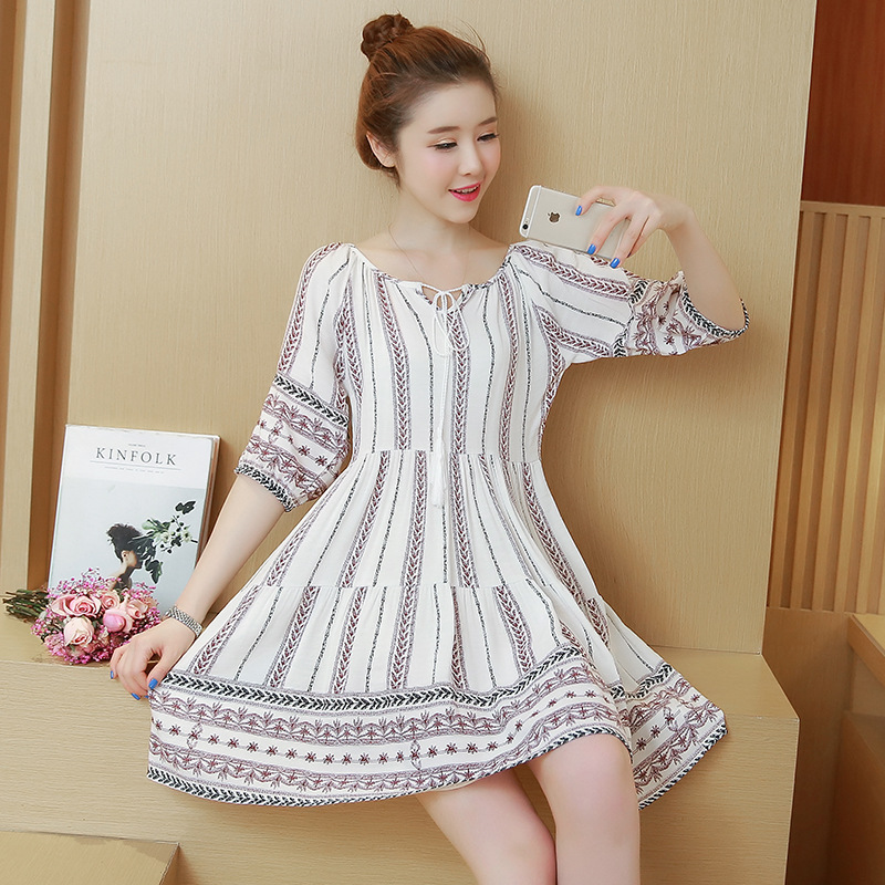 2018 pregnant women dresses summer new Korean fashion ...
