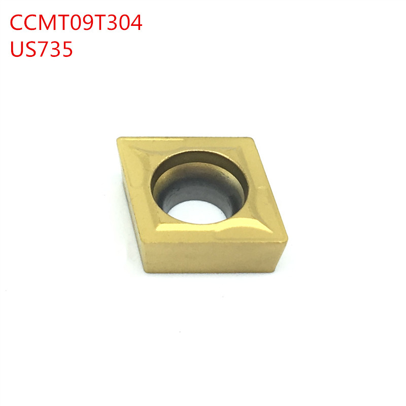 100pcs CCMT09T304 08 US735 carbide Insert turning tool cnc tool Internal Turning Tool or External Turning