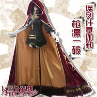 Anime! Fate/Grand Order Ereshkigal Luxuriant Cloak Dress Embroidered Pattern Uniform Cosplay Costume For Halloween Free Shipping